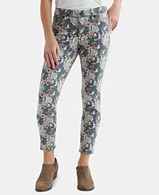 Lucky Brand Ava Floral-Print Ankle Jeans