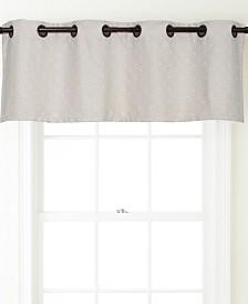 "Harrison Grommet Top Curtain Valance, Anthracite, 54 x 18"""