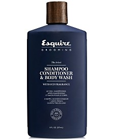 Esquire Grooming The 3-In-1 Shampoo, Conditioner & Body Wash, 8-oz.