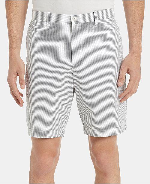 Calvin Klein Men S Seersucker Flat Front 9 Shorts Reviews