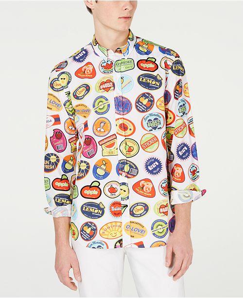 Love Moschino Men's Stamped Shirt