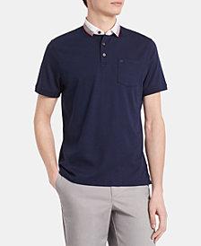 Calvin Klein Men's Contrast Collar Pocket Polo