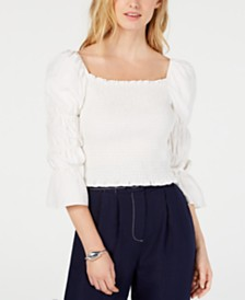 Moon River Cropped Shirred Top