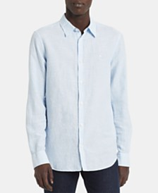 Calvin Klein Men's Chambray Logo Shirt