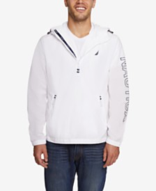Nautica Men's Half-Zip Crinkle Jacket, Created for Macy's