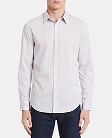 Calvin Klein Men's Bengal Striped Slim Fit Shirt