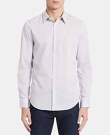 Calvin Klein Men's Bengal Striped Slim Fit Shirt