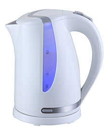 MegaChef 1.7Lt. Plastic Electric Tea Kettle- White