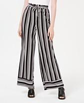 fd95662418 Ultra Flirt Juniors' Striped Wide-Leg Pants