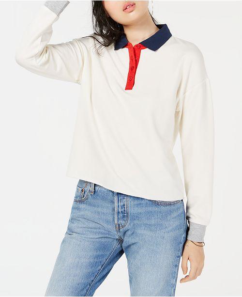 SweatshirtCommentaires Hauts Juniors Polo 'Colorblocked Rose Combo Juniors Hippie Blanc lK13F5uTJc