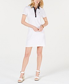 Polka-Dot Collar Polo-Shirt Dress, Created for Macy's
