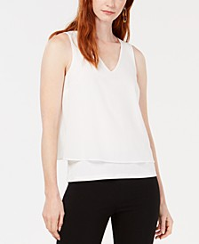 Mixed Media Split Back Tank Top, Created for Macy's