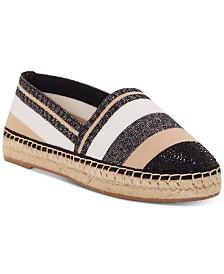 I.N.C. Women's Corvina Capped-Toe Woven Espadrille Flats, Created For Macy's