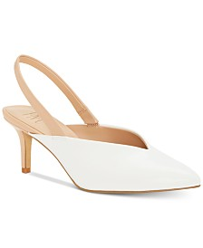 I.N.C. Women's Velda Slingback Choked-Up Pumps, Created for Macy's