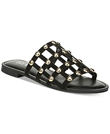 Bar III Pecanna Flat Sandals, Created for Macy's