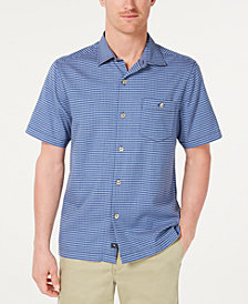 Tommy Bahama Men's Check-In The Tropics Regular-Fit Windowpane Check Camp Shirt