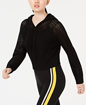 Planet Gold by Golden Touch Juniors  Knit Mesh Cropped Hoodie 61dda89c5