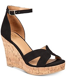 Material Girl Bretta Wedge Sandals, Created for Macy's