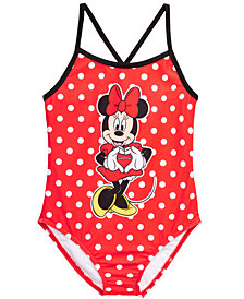 Dreamwave Little Girls 1-Pc. Minnie Mouse Graphic Swimsuit