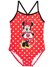 Dreamwave Little Girls 1-Pc. Minnie Mouse Graphic Swimsuit