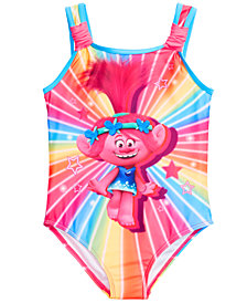 Dreamwave Little Girls 1-Pc. Trolls Graphic Swimsuit