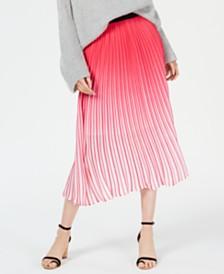 Lucy Paris Ombré Pleated Skirt