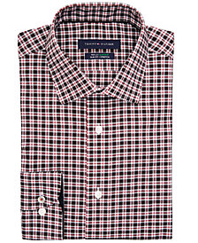 Tommy Hilfiger Mens Slim-Fit Check Shirt