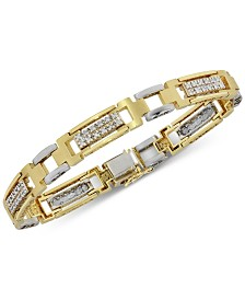 Men's Diamond (1 ct. t.w.) Bracelet in 10k Yellow & White Gold