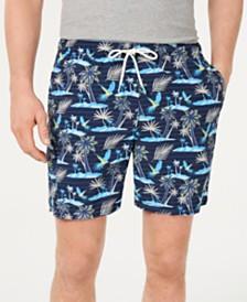"Tommy Bahama Men's Isle Of Palms Tropical-Print 6"" Swim Trunks"