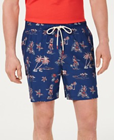"Tommy Bahama Men's Naples Hula Hut Tropical-Print 6"" Swim Trunks"