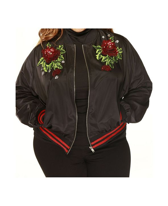 Eleven 60 Eleven60 Love My Thick Bomber Jacket Plus