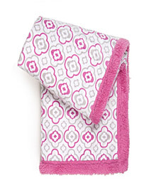 Tadpoles Double Layer Plush Baby Blanket, Geometric