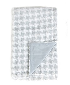 Tadpoles Plush Double Layer Baby Blanket, Houndstooth