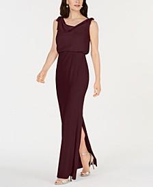 Blouson Cowlneck Gown