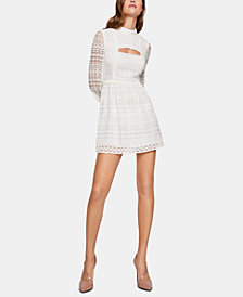 BCBGeneration Lace Cutout Fit & Flare Dress