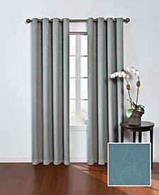 """Round and Round Thermaweave Blackout 52"""" x 95"""" Curtain Panel"""