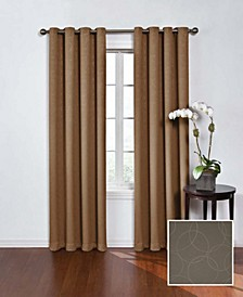 "Round and Round Thermaweave Blackout 52"" x 95"" Curtain Panel"