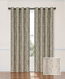 "Nadya 52"" x 95"" Damask Blackout Curtain Panel"