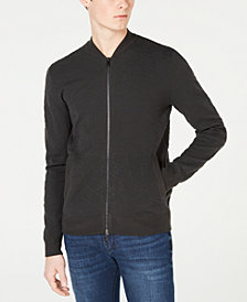 A|X Armani Exchange Men's Zip-Front Sweater Jacket