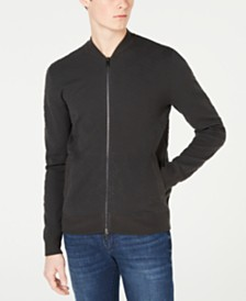 A|X Armani Exchange Men's Zip-Front Sweater Jacket