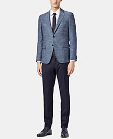 BOSS Men's Slim Fit Herringbone Jacket