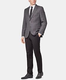 BOSS Men's Regular/Classic Fit Checked Virgin Wool Jacket