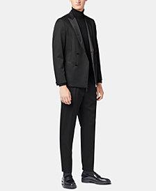 BOSS Men's Slim Fit Double-Breasted Virgin Wool Tuxedo