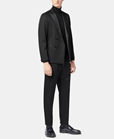 BOSS Men's Slim Fit Double-Breasted Virgin Wool Tuxedo