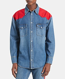 Calvin Klein Jeans Men's Woven Western Shirt