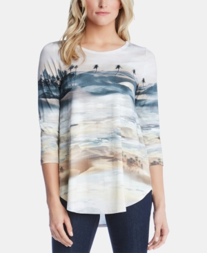 Karen Kane Tops PRINTED TOP