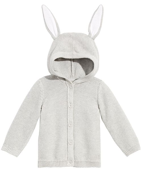 9ae7c69cf First Impressions Baby Boys or Girls Bunny-Ear Hooded Cotton Sweater ...