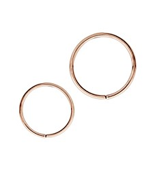 Bodifine Stainless Steel Set of 2 Cartilage Rings