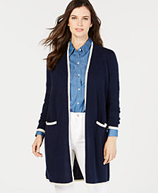 Charter Club Cashmere Tipper Completer Cardigan, Created for Macy's