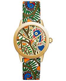 Tory Burch Women's Gigi Multicolor Leather Strap Watch 36mm